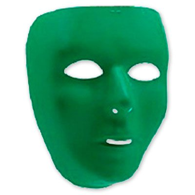 Зеленая маска для лица, пластиковая 1501-2269