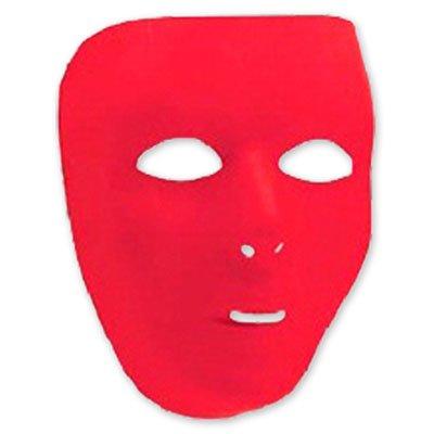 Красная маскарадная маска пластиковая 1501-2271