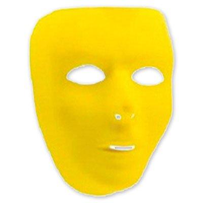 Маска пластиковая желтая 1501-2272