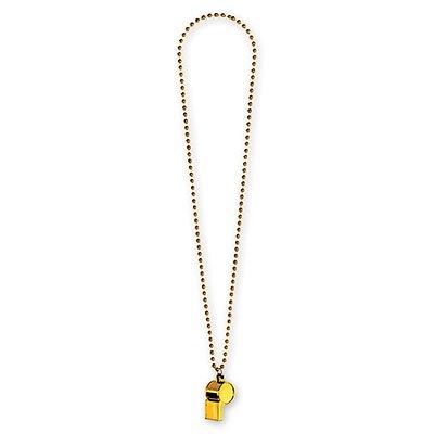 Свисток на бусах желтый 1501-2286
