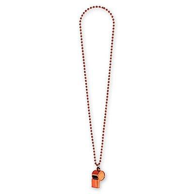 Свисток на бусах оранжевый 1501-2287