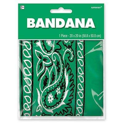 Бандана с рисунком зеленая 1501-2289
