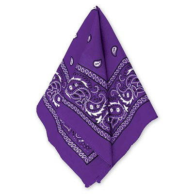 Бандана с рисунком фиолетовая 1501-2290