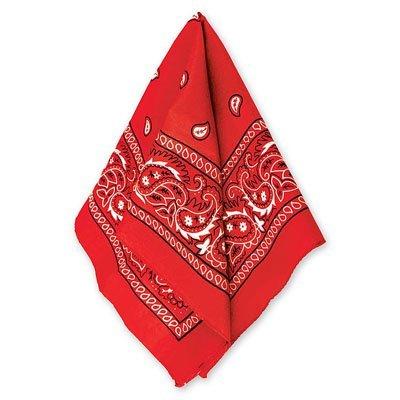 Бандана с рисунком красная 1501-2291
