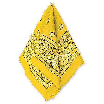 Бандана с рисунком желтая 1501-2292