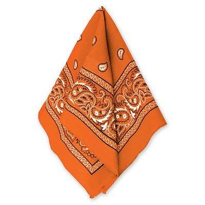 Бандана с рисунком оранжевая 1501-2293