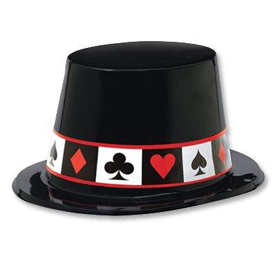 Шляпа пластиковая Казино с мастями 1501-2492