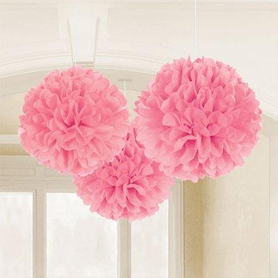 Помпоны бумажные Розовые Pink, 3 шт 1501-2504