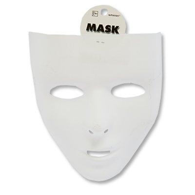 Белая пластиковая маска 1501-2655