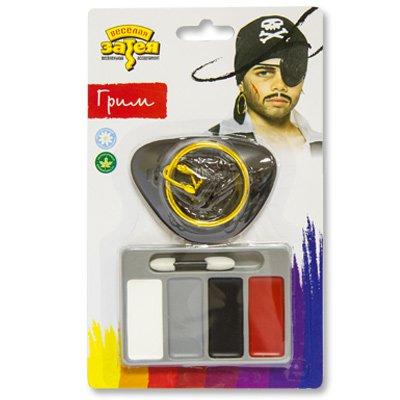 Набор грима Пират 4 цвета+повязка+серьга 1501-2687