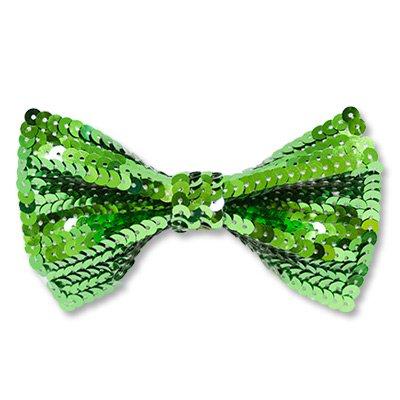Галстук-бабочка с пайетками зеленый 1501-2700