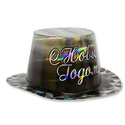 Шляпа голография С Новым годом Диамант 1501-2748