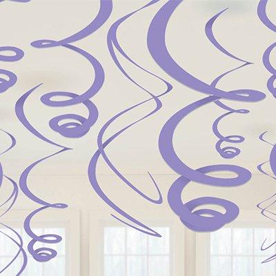 Спирали сиреневые, 55 см, 12 штук 1501-2801