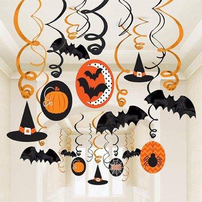 Спирали Хэллоуин Горошек-Шеврон, 30 штук 1501-2825