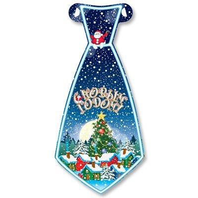 Галстуки С НГ Домики в снегу, 8 штук 1501-2833