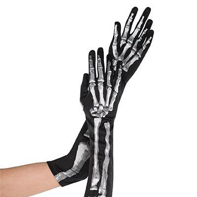Перчатки длинные Скелет 1501-3129