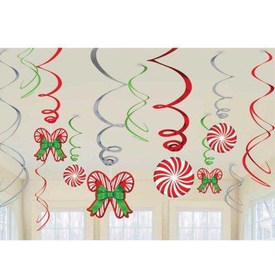Спирали Сладкое Рождество 46-60см, 12 шт 1501-3335