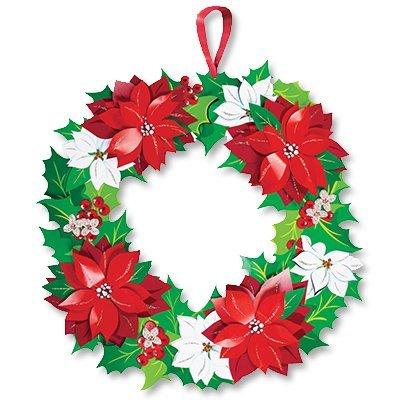 Венок рождественский бумажный блеск 1501-3466