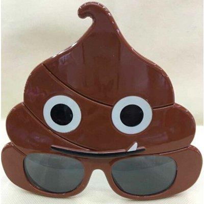 """Смешные очки смайлик """"Какашка"""" 1501-3538"""