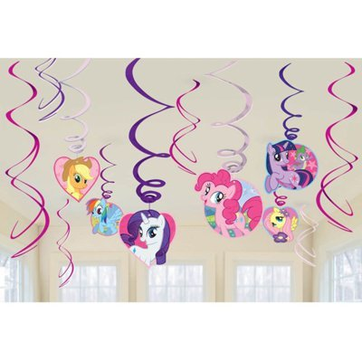 Спирали My Little Pony 46-60 см, 12 штук 1501-3568