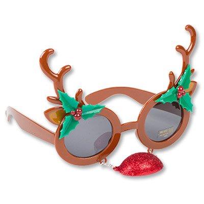 Очки Олень Рождественский с носом 1501-3650