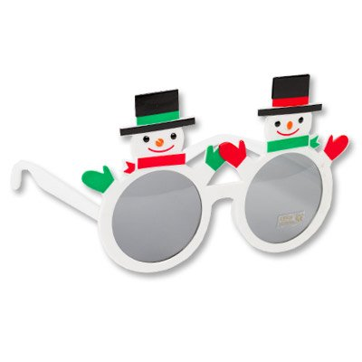 Очки Снеговики, белые 1501-3654