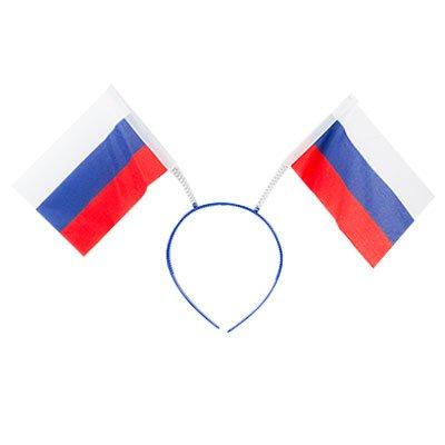 Ободок с флажками Россия триколор 1501-3725