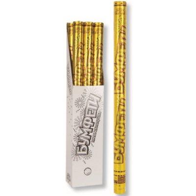 Золотая хлопушка 80 см фольга конфетти золото