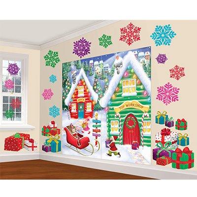 """Декорации на новый год """"Дом Санта Клауса"""", 32 предмета 1501-3781"""
