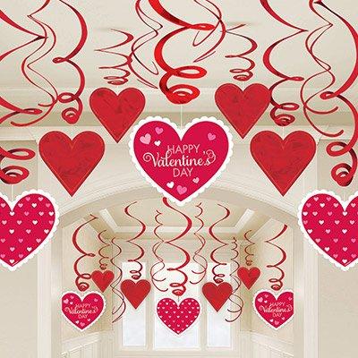 Спирали Валентинов День, 46-60 см, 30 шт 1501-3972
