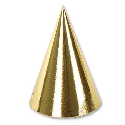 Колпаки фольгированные золотые, 6 штук 1501-3990