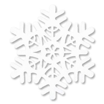 Снежинка полимер мягкая белая, 30 см 1501-4002