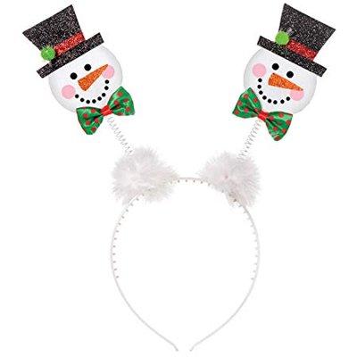 Ободок-антенки Снеговик Рождественский 1501-4007