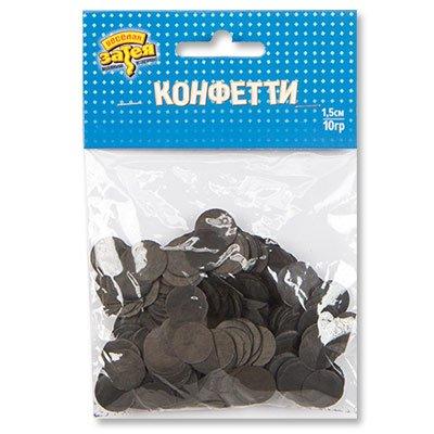 Конфетти Круги тишью Черные 10 гр 1501-4082