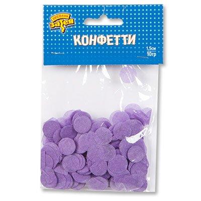 Конфетти Круги тишью Сиреневые 10 гр
