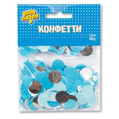 Конфетти Круги тишью, фольга Сереб/Голуб 1501-4092