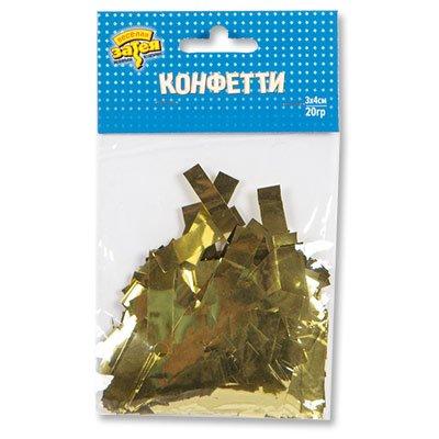 Конфетти Прямоугольное фольг золото 20гр 1501-4095