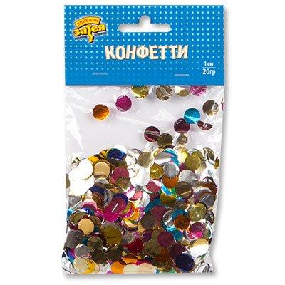 Конфетти круглые, фольгированные 1,5см 20г 1501-4101