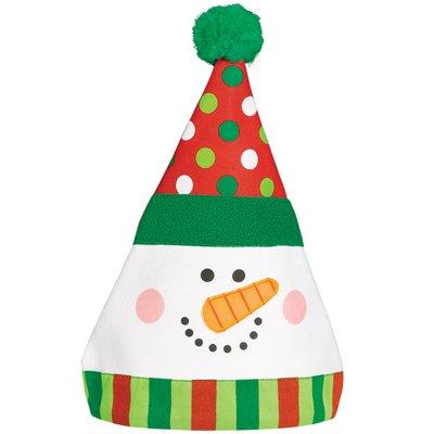 Колпак Снеговик Забавный, текстиль 1501-4146