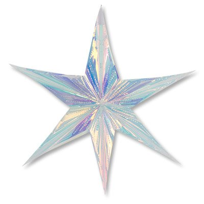 Фигура Звезда 6-конечная перламутр, 60см 1501-4258