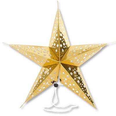 Фигура Звезда картон фольга золото 45см 1501-4259