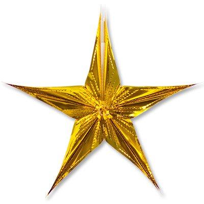 Фигура Звезда фольгированное золото 30см 1501-4261