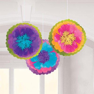 Помпоны Цветок Безумное Чаепитие, 3 шт. 1501-4383