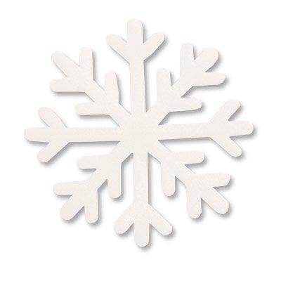 Фигура мягкая Снежинка белая, 10см, 10шт 1501-4552