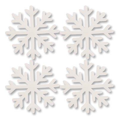 Фигура мягкая Снежинка белая, 7см, 10шт 1501-4553
