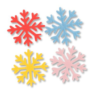 Фигура мягкая Снежинка ассорти, 7см 10шт 1501-4555