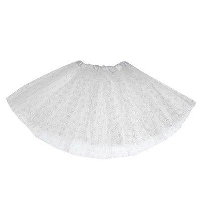 """Карнавальная юбка """"Снежинка"""" белая 1501-4660"""