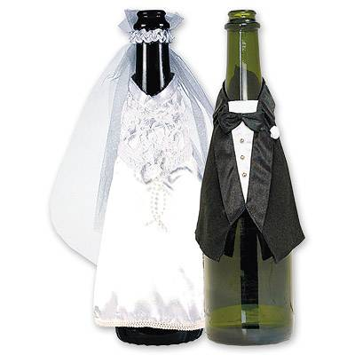 Украшение для бутылок свадебное 1502-0394