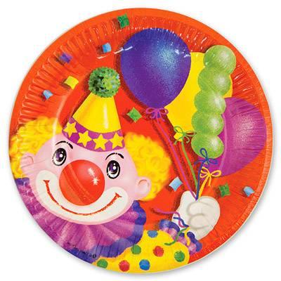 Тарелка Клоун с шарами 17см 6шт 1502-0462