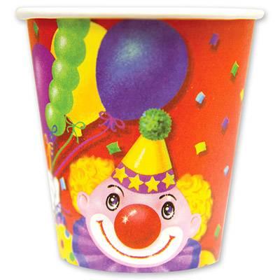 Стакан Клоун с шарами 190мл 6шт 1502-0464